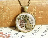 Map of Great Britain - Vintage Necklace