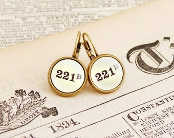 221B - Literature Earrings