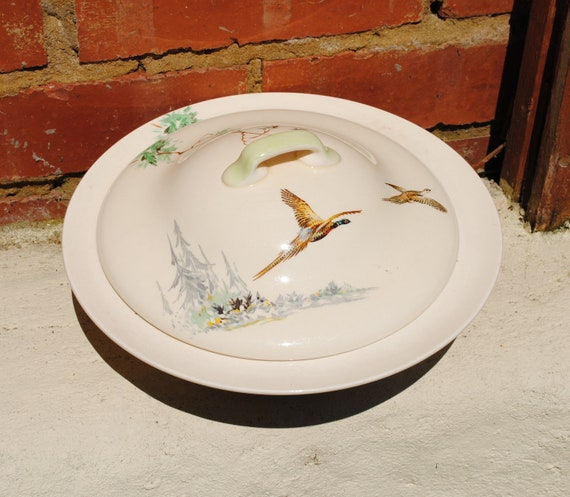 Antique 1930s Royal Doulton The Coppice - D 5803 - lidded tureen