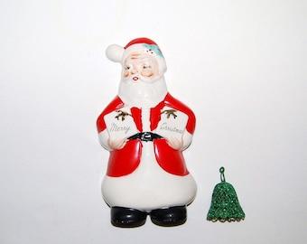Vintage Santa Greeting 50s
