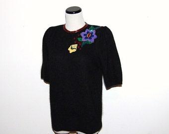 Vintage Sweater Black with Glitz