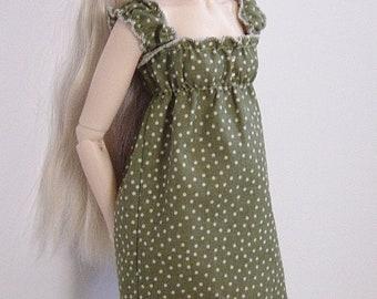 Mossy Green & Polka Dot  Dress for MNF/Minifee/Unoa/Slim MSD