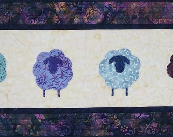 KIT: Sheep Social Table Runner/Wall Hanging Quilt Pattern and KIT