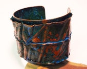 """Fold Formed & Layered Copper Cuff from the """"Atlantis"""" Series"""