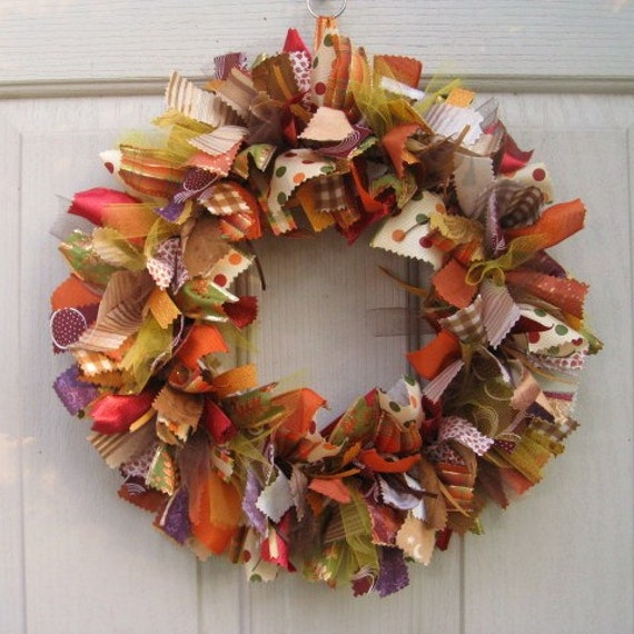 Fall Wreath For Door Autumn Decor Fall Wreaths Fall Ribbon