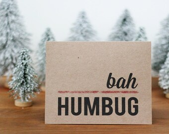 Bah Humbug Holiday Card  - Funny Christmas Card