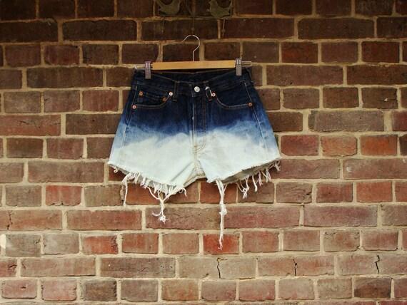 Tie & Dye Levis Cut Off Shorts