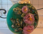 trappedinabead Lampwork Glass Cecile Rose