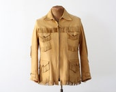 1970s Leather Jacket // Vintage Buckskin Jacket