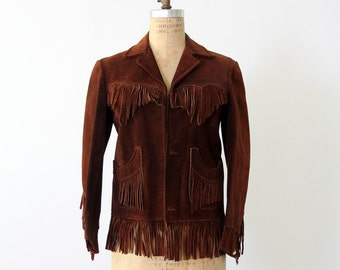 1960s leather jacket with fringe