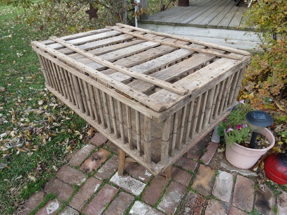 vintage wooden chicken coop crate reserved for sandford3040