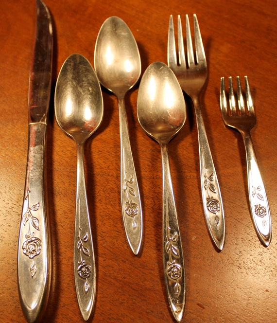 Vintage Flatware By Oneida In My Rose Pattern Stainless