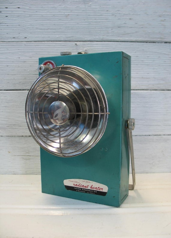 Propane Radiant Heater >> Vintage Portable Radiant Space Heater Turquoise Turner Corp.