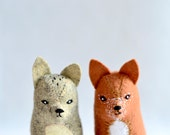 reserved - 2 little red fox - soft sculpture animal