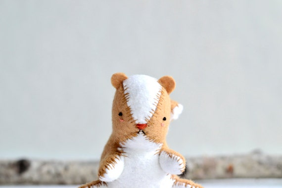 chubby chipmunk - soft sculpture animal