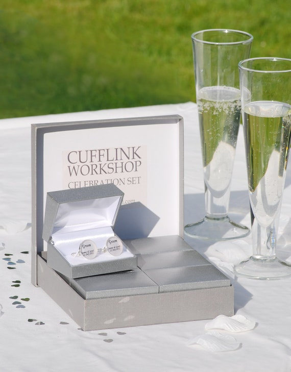 Wedding Keepsake, Wedding Cufflinks box set, Box Set of Wedding Cufflinks, wedding gifts, set of wedding cufflinks, Wedding presents