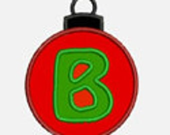 Christmas Ornament Alphabet A-Z......Two sizes for multiple hoops...Item1033...INSTANT DOWNLOAD
