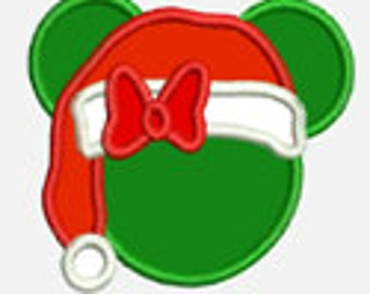 Ms Mouse Christmas...Embroidery Applique Design...Three sizes for multiple hoops...Item1454.. INSTANT DOWNLOAD