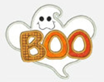 Boo Ghost...Embroidery Applique Design...Three sizes for multiple hoops...Item1304...INSTANT DOWNLOAD