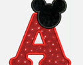 Mouse Ears Alpha A-Z.....Two sizes for multiple hoops...Item1269...INSTANT DOWNLOAD