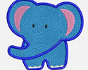 Elephant...Embroidery Applique Design...Three sizes for multiple hoops...Item1251...INSTANT DOWNLOAD