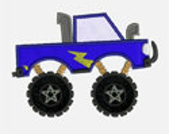 Monster Truck...Embroidery Applique Design...Two sizes for multiple hoops...Item1019...INSTANT DOWNLOAD