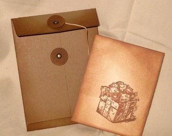 Vintage Inspired and distressed Mini Pocket Envelope Christmas Gift card Money Holder