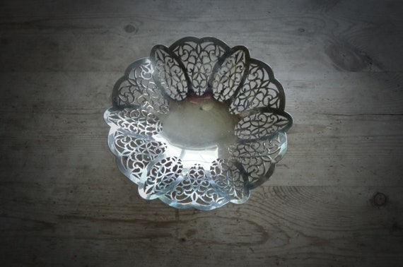 Vintage Silver Basket, from Garden of Simples