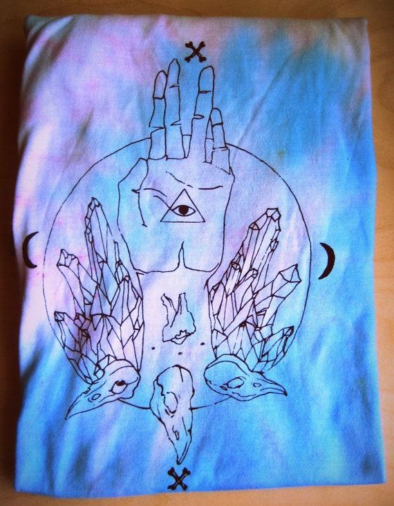 Tie Dye Crystal Spirit shirt // Large //