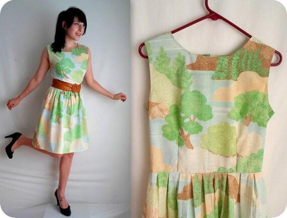 Country Landscape Vintage Inspired Dress