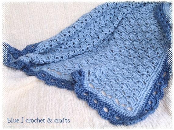 Crochet Baby Blanket Lace Pattern : Crochet Pattern Laced With Love Baby Blanket Lace Antique