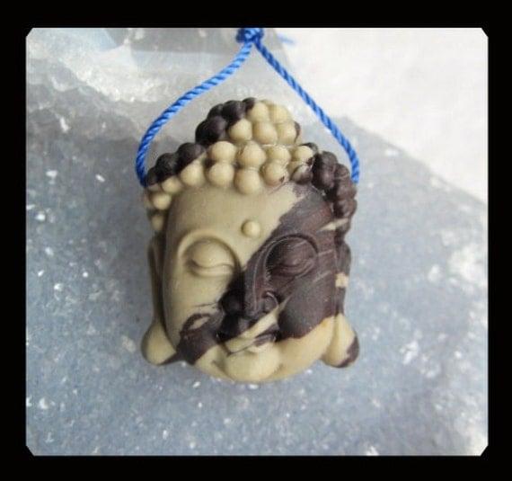 Carved  Chohua  Buddha Head Pendant Bead,25x31x12mm,14.03g
