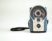Kodak Brownie Blue Starflash camera with long strap - vintage retro mid century bakelite decor toy camera 1950s 1960s