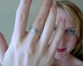 Thick Sterling Silver Stacking rings- Set of Three