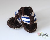 Baby boy crochet flip flop sandals