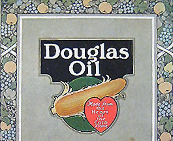 Antique Cookbook DOUGLAS OIL Recipe Book Vintage Advertising Ephemera 1918