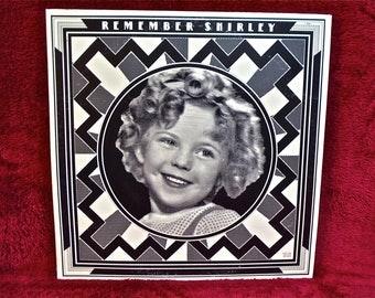 SHIRLEY TEMPLE - Remember Shirley - 1973 Vintage Vinyl 2 lp GATEfold Record Album