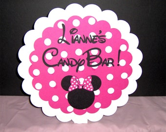 Minnie Mouse Table Sign