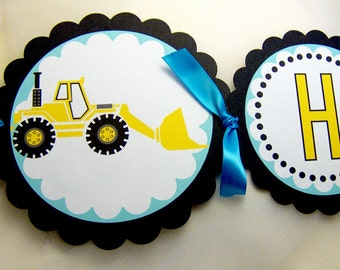 Construction Truck Birthday Package