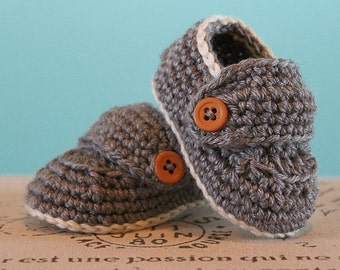 Crochet Baby Boy Booties - Boy Loafers - CUSTOM OPTIONS AVAILABLE