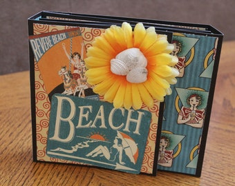 Scrapbooking Summer Family Fun Vacation Premade Pages 6x6 Hot Cocoa Photo Books