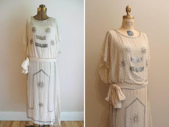Vintage 1920s Dress Flapper Wedding