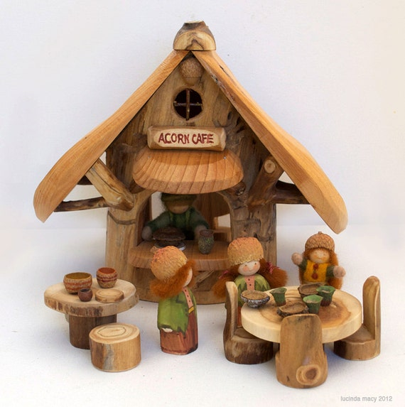Little Acorn Cafe for Gnomes and FairiesTables and Chairs