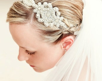 Bridal headpieces,braided headband,bridal headband,vintage wedding,wedding hair accessories,bridal hair accessories,baby headbands