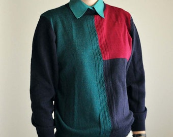 80s cool color sweater
