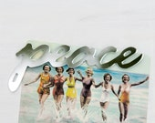 Peace Fridge Magnet, typography, mirror, words