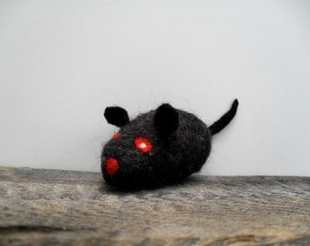 Cat toy Catnip vampire rat,  needle felted