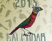 2013 Bird Desk Calendar - with CD case holder
