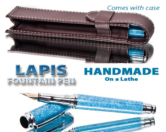 Fountain Pen - Blue Jean Lapis gift for a writer or present for writing collector