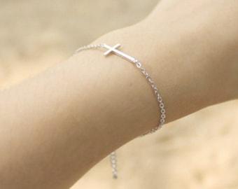 Sideways Cross Bracelet - S3278-2